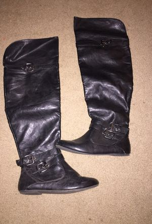 Black thigh high boots for Sale in Mount Juliet, TN
