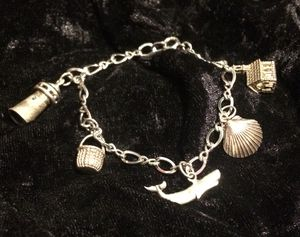 Antique sterling silver nautical themed charm bracelet for Sale in Vancouver, WA