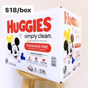 Huggies Simply Clean Nonscented (9 packs of 64ct, 576ct Total) for Sale in Anaheim, CA