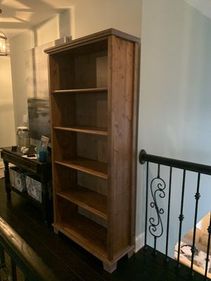 Large wooden bookcase for Sale in Hampshire, IL