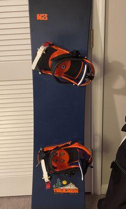 163 K2 Snowboard With Custom Matching Burton Custom Bidings for Sale in Bristow,  VA