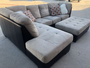 Delivery - big comfy sectional couch sofa ottoman for Sale in Burleson, TX