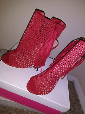 Open toe fringed Red Heels for Sale in Raleigh, NC