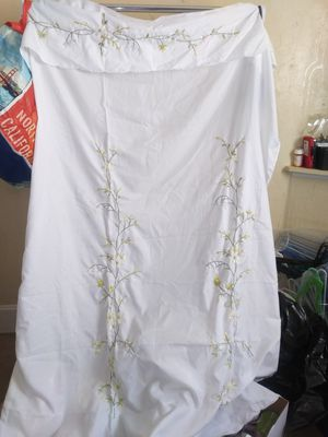 Cloth shower curtain with rings for Sale in Corning, CA