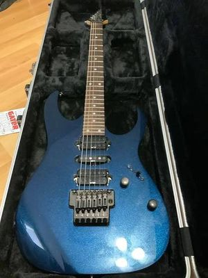 Ibanez prestige rg1570 with case blue case included for Sale in Atlanta, ID