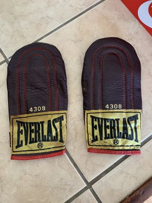 Vintage everlast leather weighted speed bag training gloves for Sale in Cleveland, OH