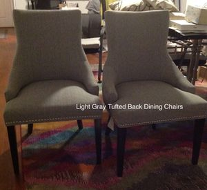 NEW Dining Chairs Light Gray Tufted Back $80each for Sale in West Palm Beach, FL