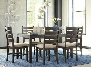 Rokane - Brown - Dining Room Table Set (7/CN) for Sale in Naples, FL
