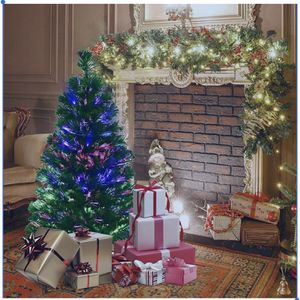 3 ft. Pre-Lit Fiber Optic Artificial PVC Tree Tabletop with Plastic Stand for Sale in Brea, CA