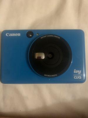Canon - IVY Cliq Instant Film Camera - Seaside Blue for Sale in Ellenwood, GA