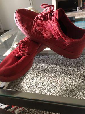 Red vans sneakers size 11.5 for Sale in Riverside, CA
