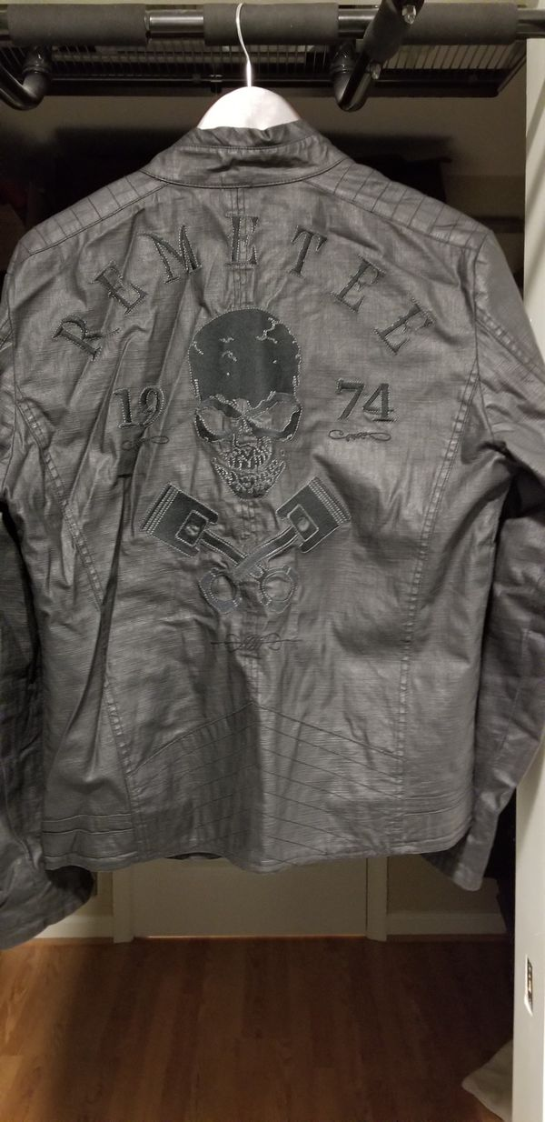 Remetee by Affliction moto biker military jacket
