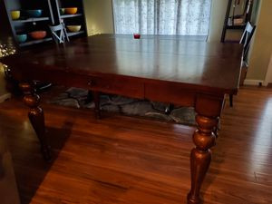 Costco solid wood dining room table w/ 8 chairs for Sale in Rolla, MO
