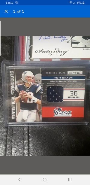 Tom brady jersey card numbered for Sale in Stoughton, MA