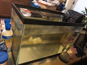 10 Gal Fish Tank (with other things) for Sale in Bowie, MD