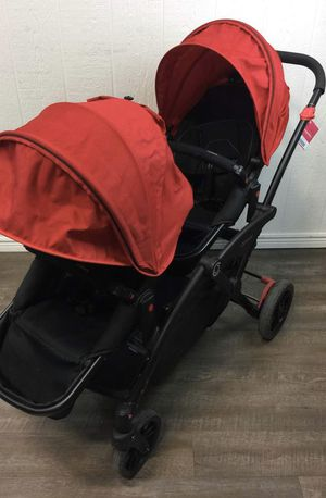 Contour Options Double Stroller w/ infant seat insert for Sale in San Antonio, TX