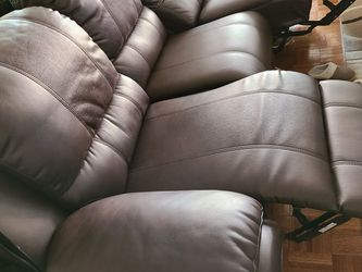 Bonded Leather Brown Sofa Power Recliner for Sale in Hackensack,  NJ
