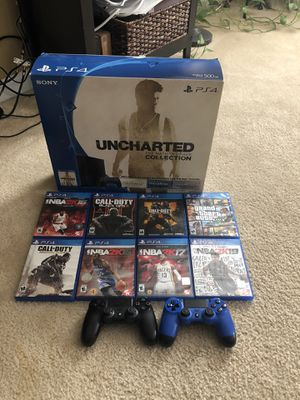 Playstation 4: W/ All games in picture + 1 Year Membership & NBA 2K20 Downloaded for Sale in Austell, GA