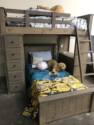 TWIN OVER TWIN LOFT BED (MATTRESS INCLUDED) for Sale in Bellflower, CA