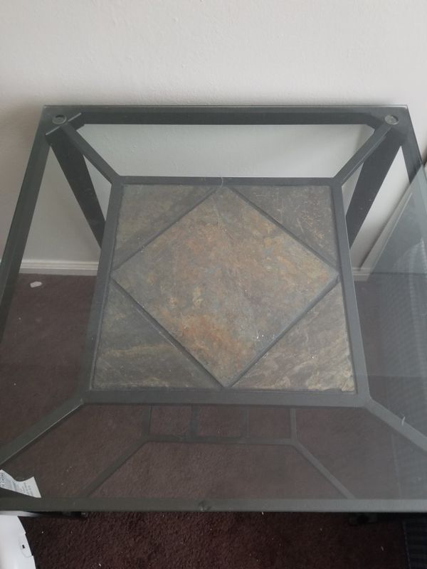 2 glass Living Room End Tables