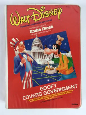 Tandy TRS 80 Walt Disney Goofy Covers Government Software Cassette Format CIB for Sale in Hamilton Township, NJ