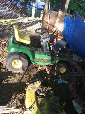 John dear needs only a belt to cut grass have plow too no motor covers. Runs good for Sale in Spencer, MA