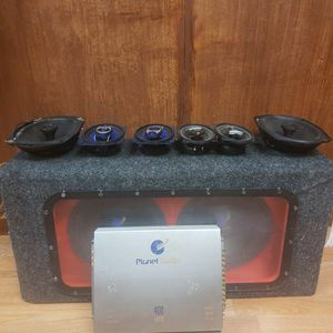 subwoofer And amplificado Plus 6 Speakers for Sale in New York, NY