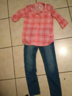 Shirt and jeans size 10_12 for Sale in Perris, CA