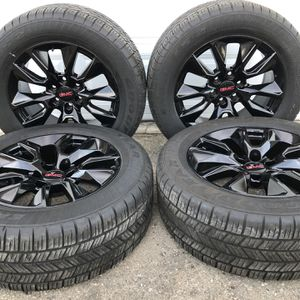 """20"""" Wheels & Tires Fits Chevy Silverado Tahoe Suburban Gloss Black RST sty Rims for Sale in Fontana, CA"""