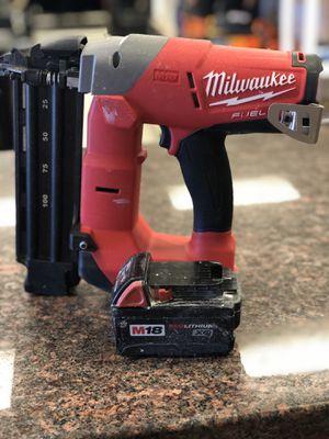 Milwaukee nail gun for Sale in Austin, TX