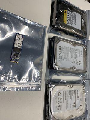 Kingston 240GB M.2 SSD & (3) 1TB HDD for Sale in Cheektowaga, NY