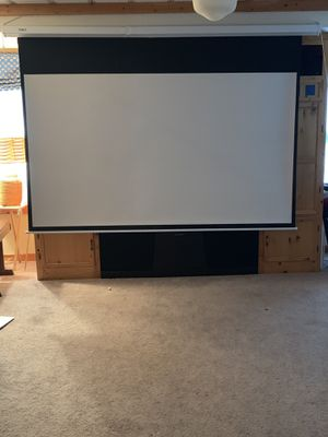 Motorized projection screen for Sale in Grant, MN