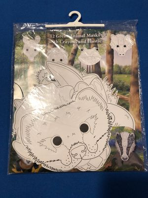 12 animal masks for halloween or costume party for kids for Sale in Queens, NY