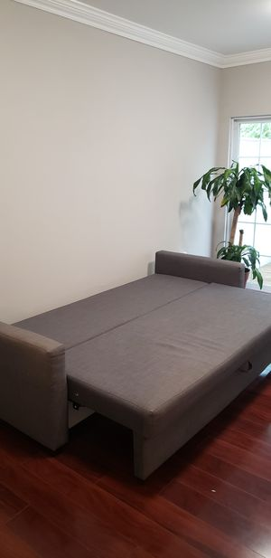 Three seater sofa and Bistro Height round table for four for Sale in Vienna, VA