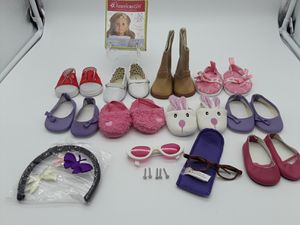American Girl Doll Lot of Mixed Shoes and Accessories. for Sale in Houston, TX