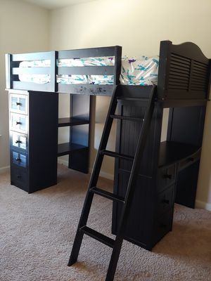 Loft bed with desk & storages(for twin size) for Sale in Ridgeway, SC