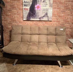.. Crown mark... Sundown Espresso pebble adjustable futon sofa. Livingroom for Sale in Houston, TX