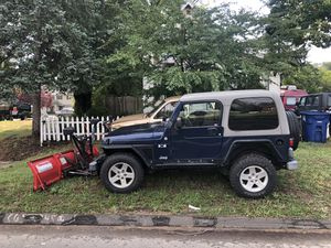 2005 Jeep Wrangler x TJ 4x4 western snow plow 130k auto 6 cyl 4.0 for Sale in East Haven, CT