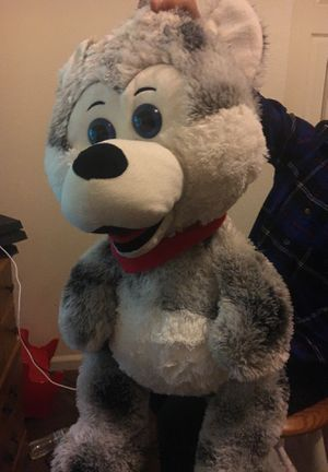A white grey,black,gray teddy bear new extra clean with no holes for Sale in Stockton, CA