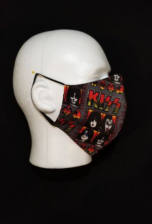 KISS Mask with Ear Loops and Nose Wire for Sale in San Diego, CA