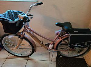 New Cruiser Bike Rose Gold Removable Basket & Saddle Bag, Beverage & Smartphone Holder,, Storage Rack & Comfortable Seat for Sale in Miramar, FL