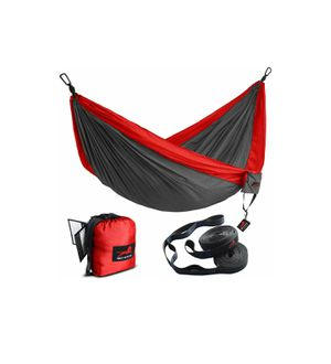 Double Camping Hammock with Hammock Tree Straps,Portable Parachute Nylon Hammock for Backpacking Travel for Sale in Tampa, FL