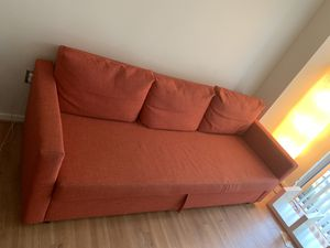 Red Fabric 2 Seat Sofa for Sale in Silver Spring, MD