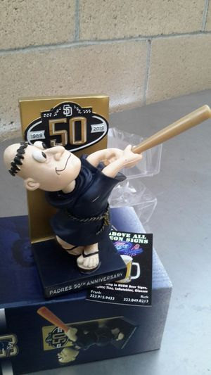SD PADRES SWINGIN' FAIR BOBBLEHEAD. ( ALSO PLENTY OF NEON SIGNS / LIGHTS AVAILABLE FOR SALE ). DODGERS BOBBLEHEADS AVAILABLE. for Sale in Los Angeles, CA