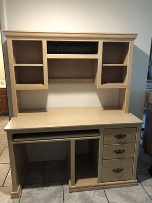 Large wooden desk with hutch for Sale in Brooktondale, NY