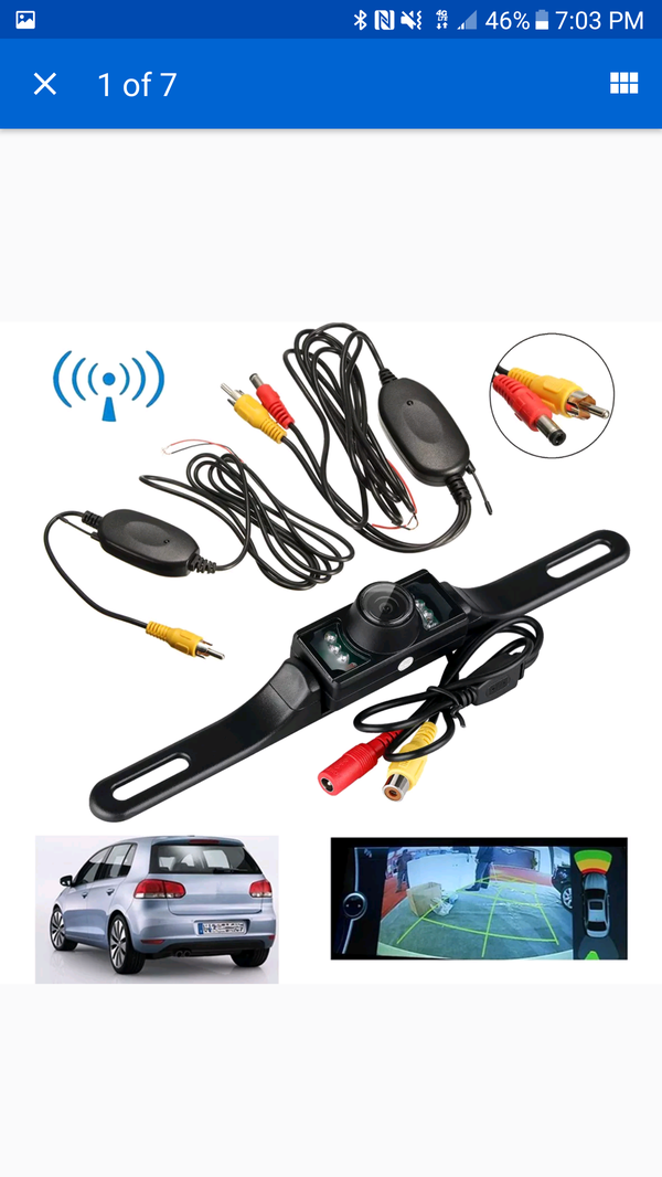 NEW Car Rearview Camera; Wireless; Night Vision; 170° View; Easy Install (168-LM029)