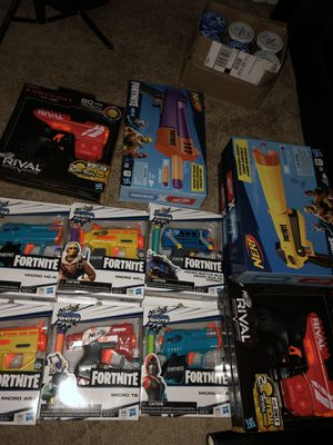 Brand new nerf rival knockout xx 100 (one red and one blue) retail 7.99 (buy two for $12) for Sale in Westminster, CA