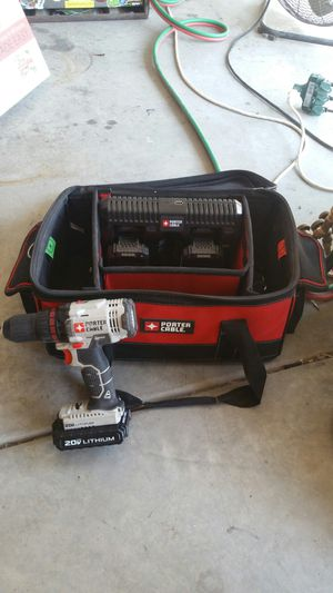 Porter Cable Drill, 3 Batteries and Tool Bag for Sale in Imperial, CA
