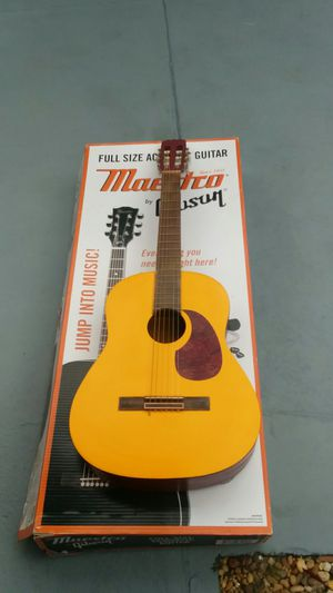 "Acoustic Guitar. ""Refurbished"". Great sound, easy to play frets. for Sale in Tampa, FL"