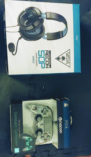 PS4 Turtle Beach Recon 50P Headset & Nacon Wired Controller Bundle for Sale in Baltimore, MD